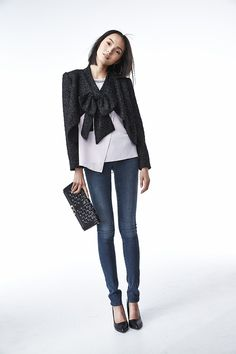 Alice + Olivia bow jacket