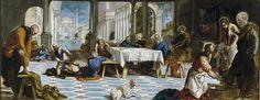 """The Foot Washing"" Tintoretto Museo Nacional del Prado, Madrid"