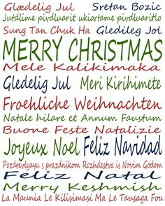 Merry Christmas In Different Languages - Download From Over 27 ...