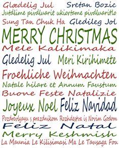Frohe weihnachten auf verschiedenen sprachen sagen sies mal anders while he was napping 12 days til christmas international christmas wishes m4hsunfo
