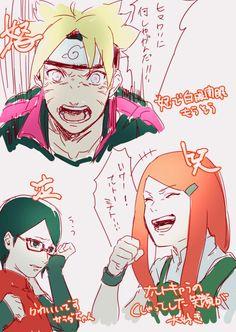 Boruto, Sarada, and Kushina #Naruto