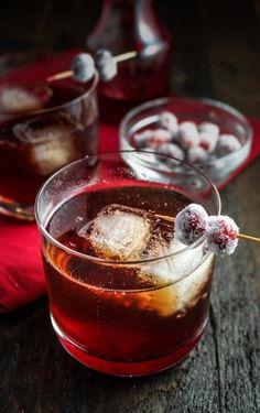 cranberry-ginger sparkling rum cider