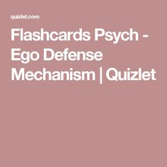 11 Best Defense Mechanisms Images Defense Mechanisms Ego