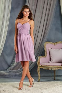 Pretty pastel tones like this lilac bridesmaid dress from Alfred Angelo is perfect for a spring wedding