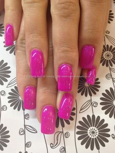 Ibd crazy plum gel polish over acrylic nails