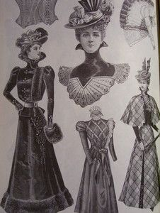 Culled from rare periodicals and catalogs, these Victorian fashions reflect the changing styles of women's clothing from 1855 to the turn of the century.  $15