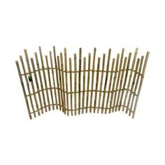 5 ft. L x 3 ft. H Bamboo Picket Fence-NBF-36 - The Home Depot