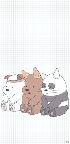 Cute Panda Wallpaper, Disney Phone Wallpaper, Cartoon Wallpaper Iphone, Bear Wallpaper, Kawaii Wallpaper, Screen Wallpaper, We Bare Bears Wallpapers, Panda Wallpapers, Cute Cartoon Wallpapers