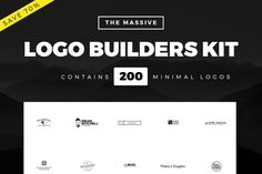 Massive Logo Builder Kit | 200 Logos by Worn Out Media Co. on Creative Market