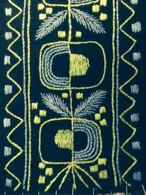 Skandinavian (wool) embroidery; Retro Embroidery - Carina Olsson, broderi 3