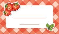 Jam label - strawberry Befőzőcímke - eper