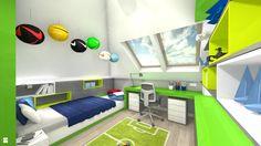 Wystrój wnętrz - Pokój dziecka dla dziewczynki - pomysły na aranżacje. Projekty… Kids Rooms, Corner Desk, Furniture, Design, Home Decor, Guys, Corner Table, Decoration Home, Room Decor