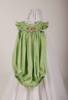 Smocked a lot girls bishop dress - Smocked Watermelons Smocked Babies Watermelon Bubble Bishops Smocking