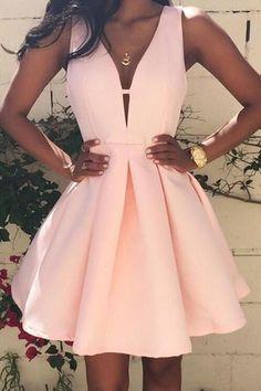 Sexy prom dress,pink homecoming dress,satin prom gown,short prom dresses by… Short Prom Dresses Uk, Homecoming Dresses Under 100, Prom Dresses For Teens, Hoco Dresses, Women's Evening Dresses, Prom Party Dresses, Dress Prom, Graduation Dresses, Freshman Homecoming Dresses