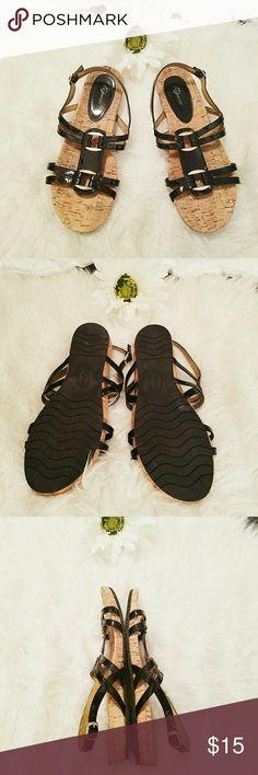 I love comfort cork sandals Cork black sandals from I love comfort. In excellent condition. Very comfortable. I love comfort Shoes Sandals