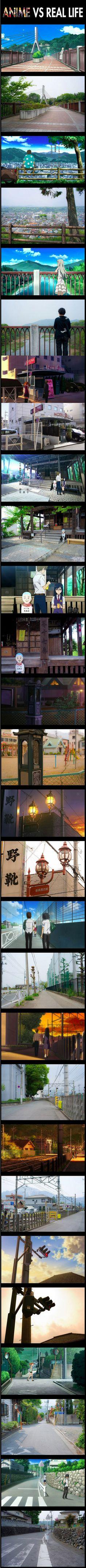 Anime vs. real-life...