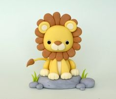 Lion Leo Fondant with step by step pictures, description is in Russian