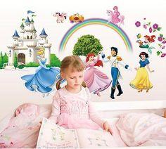 Creative Cartoon Vinyl Wall Stickers For Kids Rooms Girls