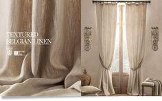Textured Belgian Linen Drapery