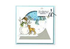 DIY Snow globe Christmas cards - free cardmaking tutorial. Make your own Christmas cards! #craft