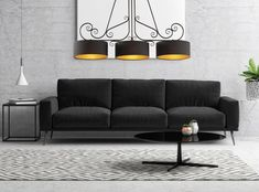 BILLARD nowoczesna lampa, czarna lampa, lampa nad stół www.polskielampy.com Couch, Furniture, Home Decor, Settee, Decoration Home, Sofa, Room Decor, Home Furnishings, Sofas