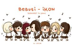 [fanart] up & down Ikon Kpop, Ikon Wallpaper, Funny Boy, Hanbin, Kpop Fanart, Bobby, Chibi, Fan Art, Cartoon
