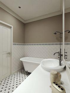 Крашеные стены в ванной и туалете - Строительный портал!