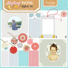 maybemej Freebie - PICNIC digital kit by maybe*mej, via Flickr
