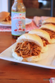 Outta the Ballpark BBQ Pulled Chicken - crock pot. Had to alter it a bit but its in the crock pot now. Excited!