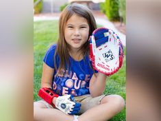 """Hailey Dawson, who has a 3-D printed prosthetic hand, tossed out the ceremonial first pitch tonight at Minute Maid Park in Houston. Even though she has 3D printed arm, she  inspires people all the time by saying,  """"I'm just being Hailey."""" She gave everyone on stage big smiles. (Yitan J)"""