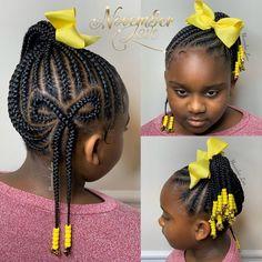 Kids Crochet Hairstyles, Toddler Braids, Lil Girl Hairstyles, Black Girl Braided Hairstyles, Black Kids Hairstyles, Natural Hairstyles For Kids, African Braids Hairstyles, Little Girl Braid Styles, Kid Braid Styles