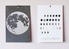 2014 Lunar Calendar /// Year Of Moons