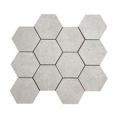 Image result for hexagon klinker grå