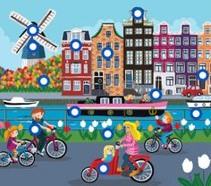 TOUCH den här bilden: Nederland by Paula Prevoo Holland, Dutch Netherlands, La Haye, Magic Design, I Amsterdam, Christian School, Thinking Day, Dutch Artists, Naive Art