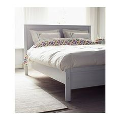 hemnes bed frame - white stain, double - ikea | for the home, Hause deko