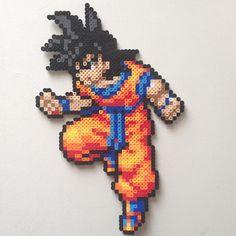 DBZ Goku perler sprite by 8bitofjai