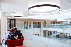 B-H 300 custom metal ceiling planks - at the new BREEAM Rated Emily Davidson Building at Royal Holloway, University of London.   Architect: Associated Architects  Main Contactor: Osborne  Ceiling Contractor: Rosguill Developments