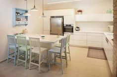 Home Kitchens, Farmhouse Kitchens, Table, Furniture, Kitchen Ideas, Home Decor, Kitchens, Decoration Home, Room Decor