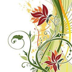 Moda vector Fondo floral