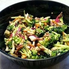 """Andrea's Broccoli SlawI """" This will make anyone love to eat Veggies! I had to force myself to put the fork down!!"""""""