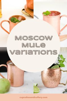 These Moscow Mule Variations and recipes include a bunch of delicious ways to make this classic cocktail idea. With vodka, tequila, whiskey and more, these recipes show you how to make a tasty seasonal drink or one with your favorite flavors.