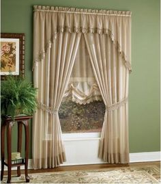 modelos de cortinas para salas pequeñas | Houses modern decoration Bedroom Curtains With Blinds, Modern Curtains, Sheer Curtains, Drapes Curtains, Valances, Curtain Patterns, Curtain Designs, Vintage Curtains, Diy Home Decor Easy