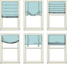 Roman Shades - Who knew there were so many kinds?!
