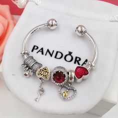 Great deal : pandora open bang...order today get price off here!http://www.charmsilvers.com/products/pandora-open-bangle-bracelet-with-5-pcs-charms?utm_campaign=social_autopilot&utm_source=pin&utm_medium=pin