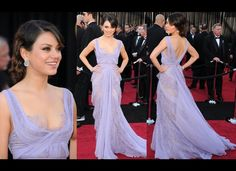 Such a beautiful dress. Plus I love Mila Kunis!
