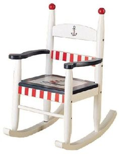 How adorable is this kid's nautical rocking chair?
