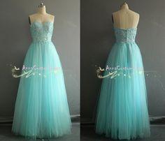 Long Sky Blue Bead Prom Dress/Custom Wedding Party Dress/Sexy Cheap Graduation Dress /Homecoming Dress/ Evening Dress /Formal Dress on Etsy, $109.00