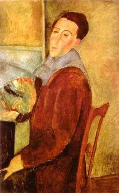 자화상 (1919) / 아메데오 모딜리아니의 하나뿐인 자화상
