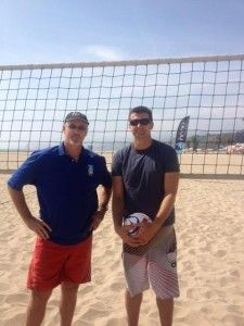 Sinjin Smith won 2 National Championships at UCLA and was MVP his senior year.  In the first Beach Volleyball competition at the Olympics! Part of http://volleyball1on1.com/all-of-sinjins-smiths-free-beach-volleyball-coaching-videos-and-drills-sponsored-by-honu-sandals/