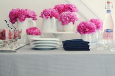 LOVE peonies, but can use coffee filter flowers instead for a much cheaper route.